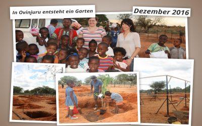 Reisebericht Dezember: Unter der heißen Sonne Namibias entsteht ein Garten