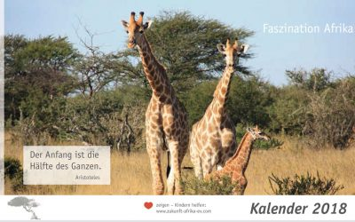 """Extra für Sie: Kalender """"Faszination Afrika 2018"""""""
