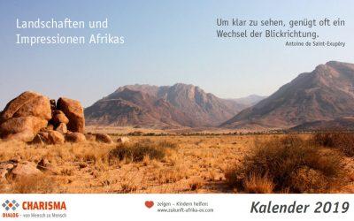"""Extra für Sie: Kalender """"Landschaften und Impressionen Afrikas"""" 2019"""