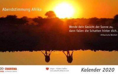 """Extra für Sie: Kalender """"Abendstimmung Afrika"""" 2020"""